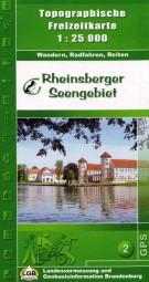 """Topographische Wander- & Freizeitkarte """"Rheinsberger Seengebiet"""""""