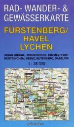 """Rad-, Wander- & Gewässerkarte """"Fürstenberg/Havel - Lychen"""""""